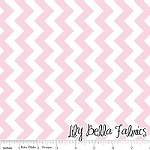Small Chevron in Baby Pink - Riley Blake House Designer - Chevron Cottons
