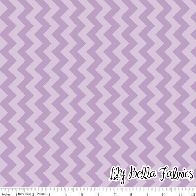 Small Chevron in Tone on Tone Lavender - Riley Blake House Designer - Chevron Cottons