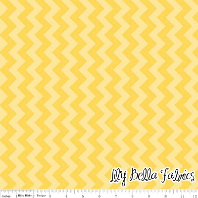 Small Chevron in Tone on Tone Yellow - Riley Blake House Designer - Chevron Cottons