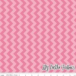 Small Chevron in Tone on Tone Hot Pink - Riley Blake House Designer - Chevron Cottons