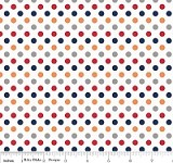 Small Dots in Boy - Riley Blake House Designer - Cotton Dots