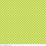 Small Dots in Lime - Riley Blake House Designer - Cotton Dots