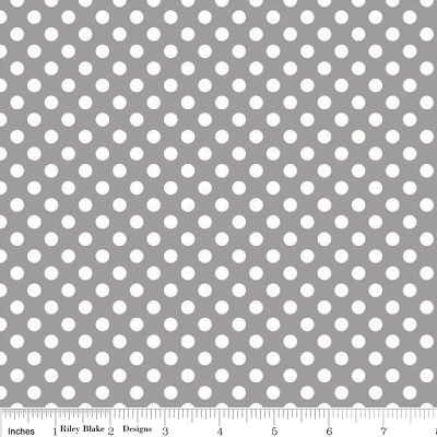 Small Dots in Gray - Riley Blake House Designer - Cotton Dots