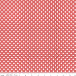 Small Dots in Rouge - Riley Blake House Designer - Cotton Dots