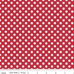 Small Dots in Red - Riley Blake House Designer - Cotton Dots