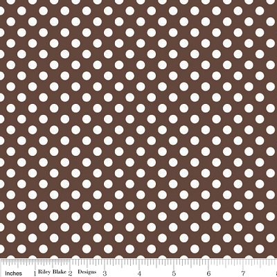 Small Dots in Brown - Riley Blake House Designer - Cotton Dots