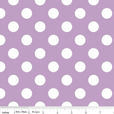 Medium Dots in Lavender - Riley Blake House Designer - Cotton Dots