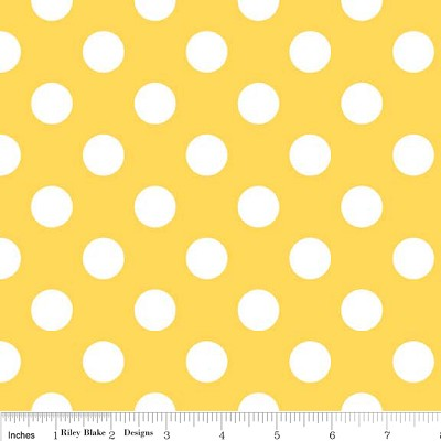 Medium Dots in Yellow - Riley Blake House Designer - Cotton Dots