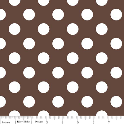 Medium Dots in Brown - Riley Blake House Designer - Cotton Dots