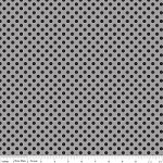 Small Dots in Tone on Tone Black - Riley Blake House Designer - Cotton Dots
