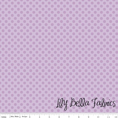 Small Dots in Tone on Tone Lavender - Riley Blake House Designer - Cotton Dots