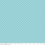 Small Dots in Tone on Tone Aqua - Riley Blake House Designer - Cotton Dots