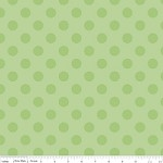 Medium Dots in Tone on Tone Green - Riley Blake House Designer - Cotton Dots