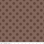 Medium Dots in Tone on Tone Brown - Riley Blake House Designer - Cotton Dots