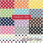 Medium Dots Charm Pack - Riley Blake House Designer - Cotton Dots