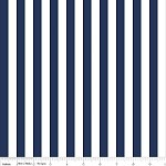 Half Inch Stripe in Navy - Riley Blake House Designer - Cotton Stripes