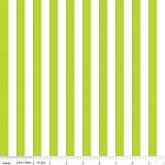 Half Inch Stripe in Lime - Riley Blake House Designer - Cotton Stripes