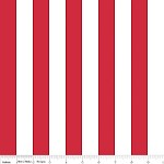 1 Inch Stripe in Red - Riley Blake House Designer - Cotton Stripes