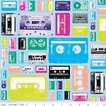 Geekly Cassettes in Blue - Amy Adams, Dorothy Tsang, and Riley Blake House Designer - Geekly Chic