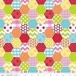 Hexi in Rainbow - Riley Blake House Designer - Hexi Print