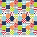 Hexi in Boy - Riley Blake House Designer - Hexi Print