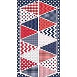 Banners in Patriotic Blue  - Riley Blake House Designer - Holiday Banners