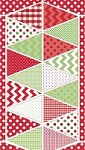 Banners in Christimas Multi - Riley Blake House Designer - Holiday Banners