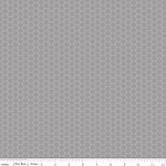 Honeycomb Dot Tone on Tone Gray - Riley Blake House Designer - Honeycomb Dot