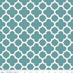 Medium Quatrefoil in Teal - Riley Blake House Designer - Quatrefoil Cottons