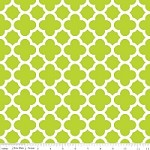 Medium Quatrefoil in Lime - Riley Blake House Designer - Quatrefoil Cottons