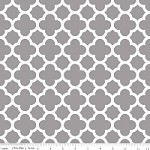 Medium Quatrefoil in Gray - Riley Blake House Designer - Quatrefoil Cottons