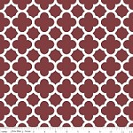 Medium Quatrefoil in Burgundy - Riley Blake House Designer - Quatrefoil Cottons