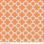 Medium Quatrefoil in Orange - Riley Blake House Designer - Quatrefoil Cottons