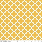 Medium Quatrefoil in Mustard - Riley Blake House Designer - Quatrefoil Cottons