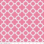 Medium Quatrefoil in Hot Pink - Riley Blake House Designer - Quatrefoil Cottons