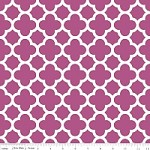 Medium Quatrefoil in Fuchsia - Riley Blake House Designer - Quatrefoil Cottons