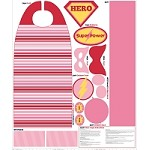Cape Panel in Pink - My Mind's Eye and Riley Blake House Designer - Super Hero