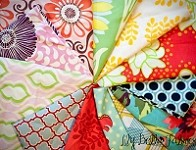 Designer Fabric Fat Eighth Scrap Bag