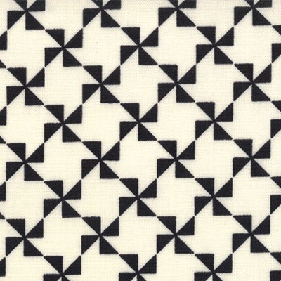 Pinwheel in Cream Black - Sweetwater - Mama Said Sew