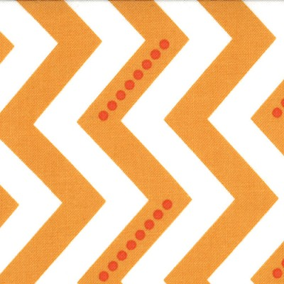Dotted Zig Zag in White Sweet Tangerine - V and Co. - Simply Color