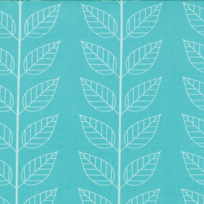 Leafy Stripe in Aquatic Blue - V and Co. - Simply Color