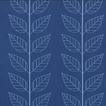 Leafy Stripe in Navy Blue - V and Co. - Simply Color