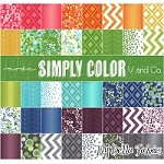 Simply Color Charm Pack - V and Co. - Moda